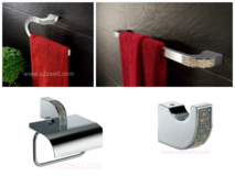 Bathroom Accessories And Fixtures With Swarovski Crystals in Los Angeles, California