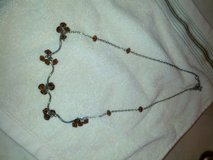 brown bead w/ silver necklace in Naperville, Illinois