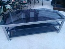 "Black Busch Glass & Chrome 60"" Flat Screen TV  Stand in Clarksville, Tennessee"