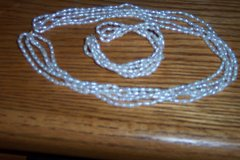 Freshwater Pearl 5 Strand Necklace & Bracelet NEW JCPenny in Alamogordo, New Mexico