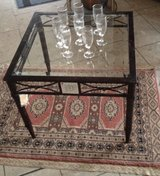 brand new coffee table with facetted glass in Spangdahlem, Germany