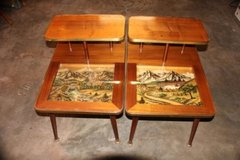 German woodcarving endtables in Fort Leonard Wood, Missouri