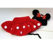 Crochet Minnie Mouse Hat and Skirt costume in Fort Lewis, Washington