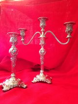 Vintage Silver Plated Candle Holders in Chicago, Illinois