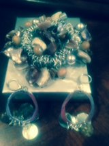 silver and stone bracelet w/matching earrings in Chicago, Illinois