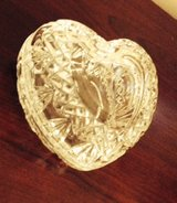 Crystal Heart Covered Trinket Box in Glendale Heights, Illinois