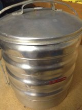 Large metal portable meal prep/picnic container from Thailand in Ramstein, Germany