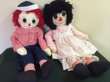 """Large 32"""" Raggedy Ann & Andy in Kingwood, Texas"""