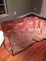 Chaps King size Red floral comforter in Houston, Texas