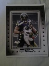 *** SEAHAWKS - Marshawn Lynch 8x10 framed Lithograph *** (NEW) in Tacoma, Washington