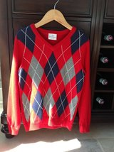Boys Hanna Andersson Red Argyle Sweater Size 8 - For Christmas / Holidays! in Chicago, Illinois