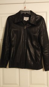 Sporty EUC black leather jacket in Fort Campbell, Kentucky