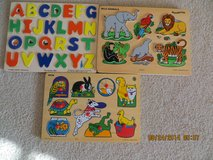 Melissa and Doug Puzzles all 3 pieces for $15 in Lockport, Illinois