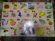 Large Floor Fruit & Vegetable Alphabet Puzzle in Fort Campbell, Kentucky