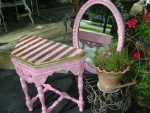 pretty pink oval mirror in St. Charles, Illinois