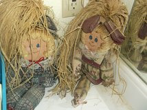 Straw-haired homemade dolls in Alamogordo, New Mexico