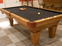 POOL TABLE, CUE RACK & ACCESSORIES in Bolingbrook, Illinois