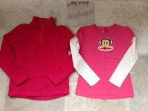 Girls Size 8 School/Play Clothes: Eddie Bauer Fleece + Paul Frank Shirt in Naperville, Illinois