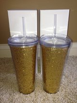 Gold Glitter Tumblers - Brand New in Joliet, Illinois