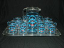 Vintage Bay Club Marina Serving Tray, Pitcher and Tumblers Barware in Naperville, Illinois