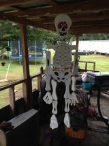 wooden skeleton in Fort Polk, Louisiana