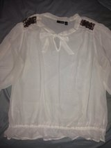 A.N.A White Sequin Blouse in Fort Bliss, Texas