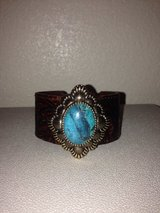 Genuine Turquoise and leather cuff in Fort Bliss, Texas