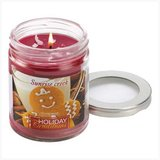 45-hrs Soy Scented Lidded Jar Candle ~ Gingerbread - New in Fort Lewis, Washington