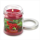 45-hrs Soy Scented Lidded Jar Candle ~ Holly Berries ~ New in Fort Lewis, Washington