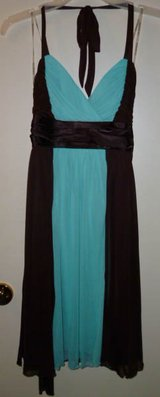 Turquoise/Brown Knee Length Dress - New in Fort Campbell, Kentucky