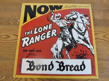 Reduced~Metal Sign~The Lone Ranger.  Vintage Reproduction in Sandwich, Illinois