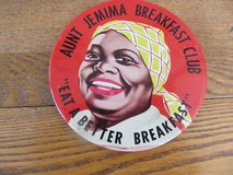 Reduced~Original Vintage Aunt Jemima Pin in Sandwich, Illinois