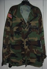 REAL US Army Camo Uniform Shirt Soldier Costume Adult in Kingwood, Texas