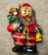 Vintage St. Nick Santa Claus Brooch Pin Christmas in Houston, Texas
