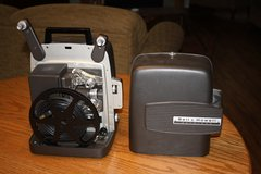 Working Bell and Howell 8 mm projector - model 346A and working screen in Batavia, Illinois
