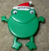 Mistle Toad Frog Christmas Pin in Houston, Texas