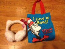 Hello Kitty ear muffins and Dr.Seuss bag in Camp Lejeune, North Carolina