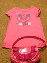 Girly Faded Glory shirt with purse pink in Camp Lejeune, North Carolina