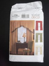 Vogue Decor Pattern 7756 Uncut FF USA 2003 Panel Window Treatments Cornice Drapes Valance in Joliet, Illinois
