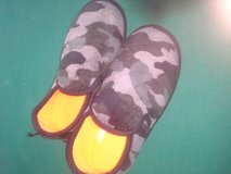 Boys camouflage slippers in Vacaville, California