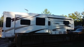 Camper, Deck and Shed locate at Camdenton at Redoak Resorts in Fort Leonard Wood, Missouri
