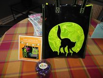 Halloween Item's Cat trick or treat bag,Halloween garland kit purple glass ball's in Algonquin, Illinois