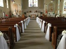 Wedding Pew Sashes in Belleville, Illinois