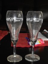 Bride and Groom Champagne Flutes in Moody AFB, Georgia