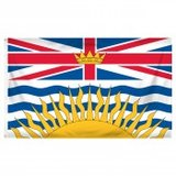 Flag ~ British Columbia ~ 3ft x 5ft ~ New in Fort Lewis, Washington