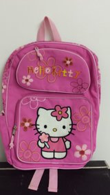Hello Kitty Brand New Pink Back Pack With Water Bottle New w/o Tags in Westmont, Illinois