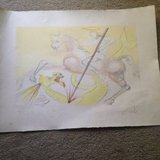 Salvador Dali signed litho numbered in Conroe, Texas