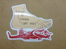 Satan is Under My Feet Sticker in Camp Lejeune, North Carolina