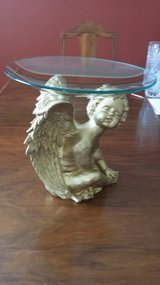 Baby Angel W/t glass dish in Conroe, Texas