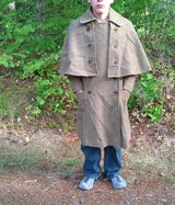 sherlock holmes tweed coat, size M/L in Fort Lewis, Washington